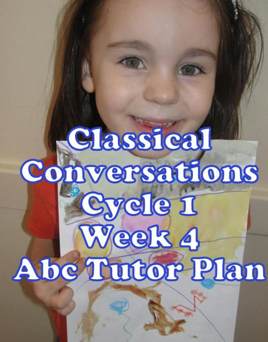 Classical Conversations Cycle 1 Week 4 Abc Tutor Plan - Abstract Art