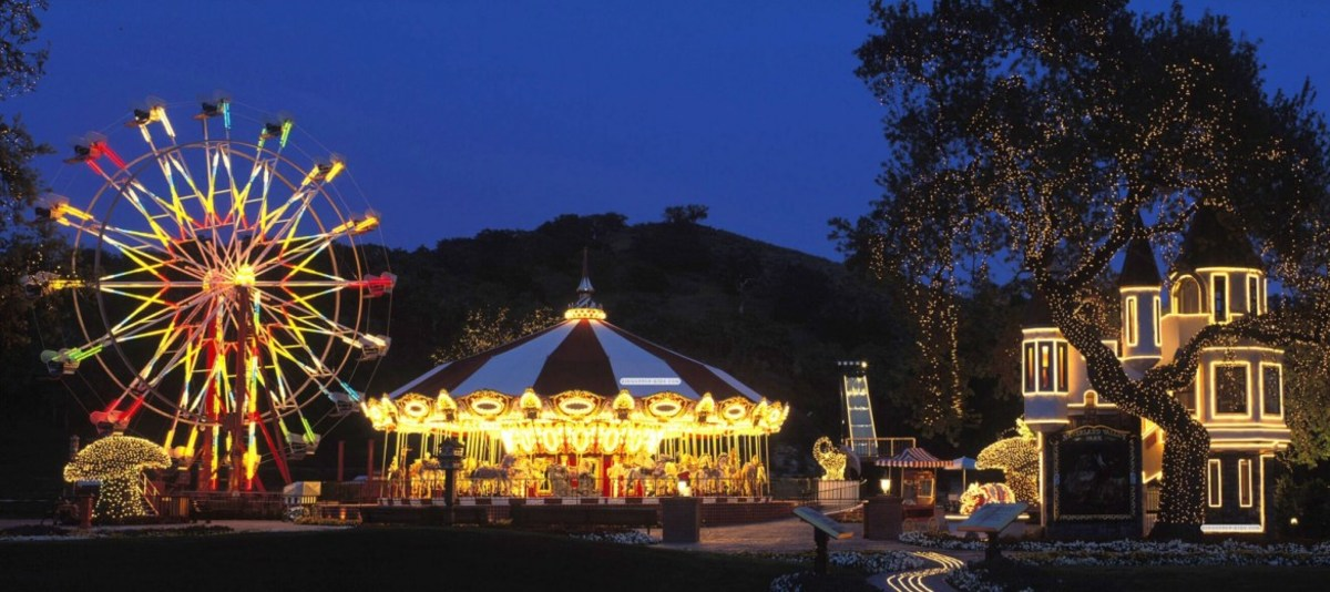 Neverland Ranch Carousel at Night
