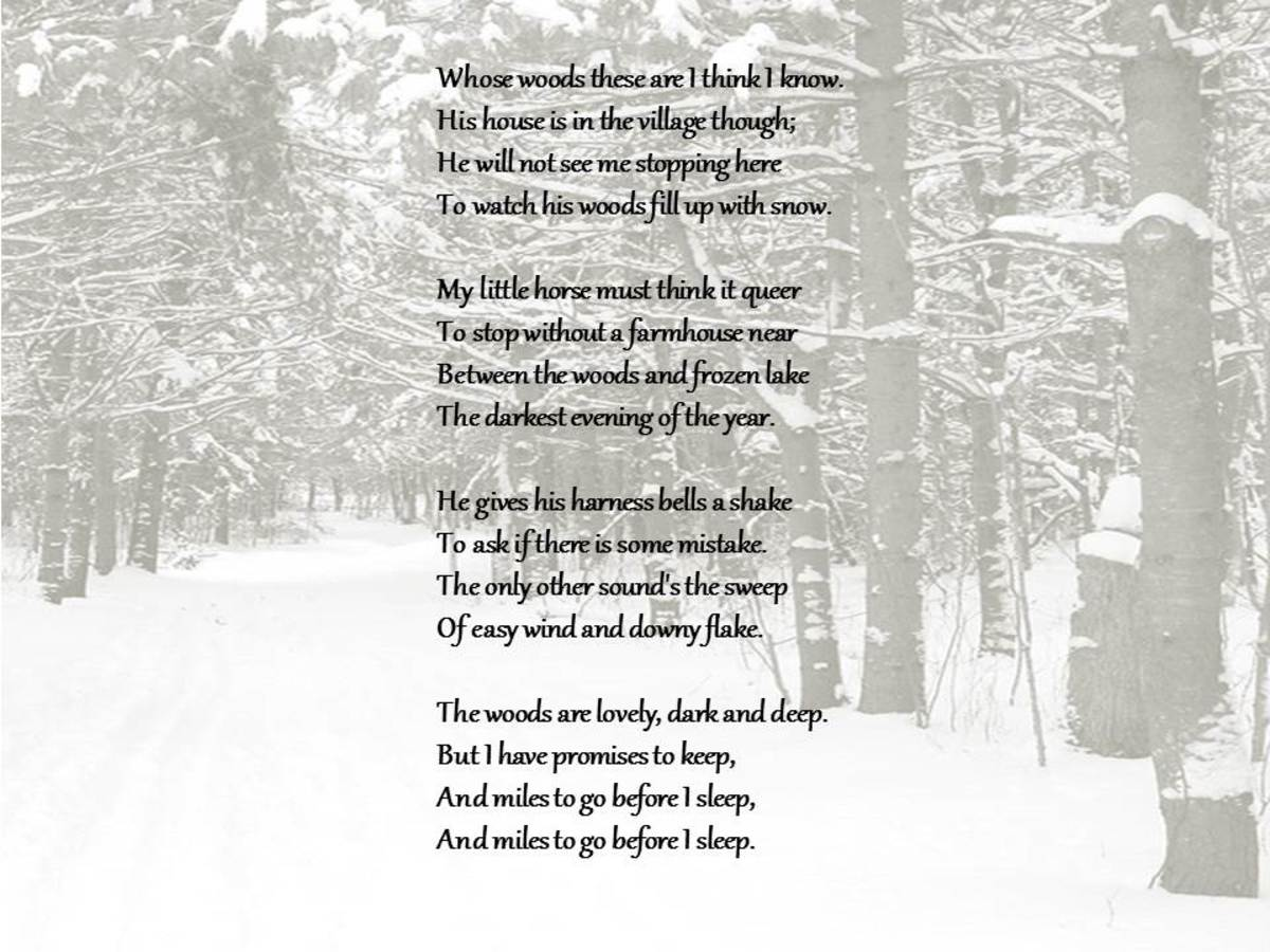 Robert Frost's Stopping by Woods on a Snowy Evening Poem