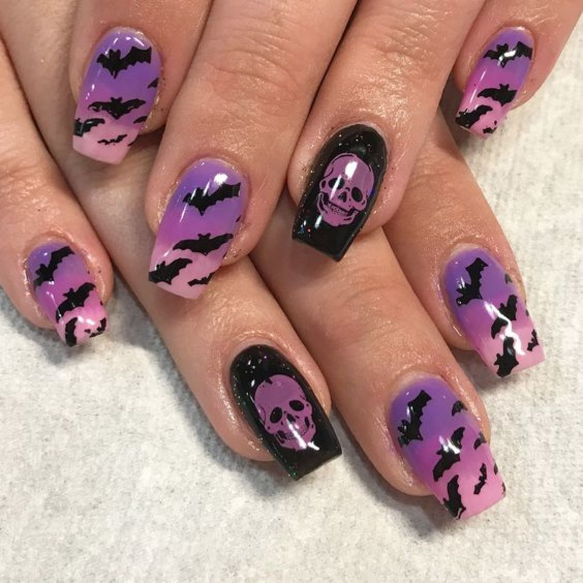 DIY Halloween Nail Designs