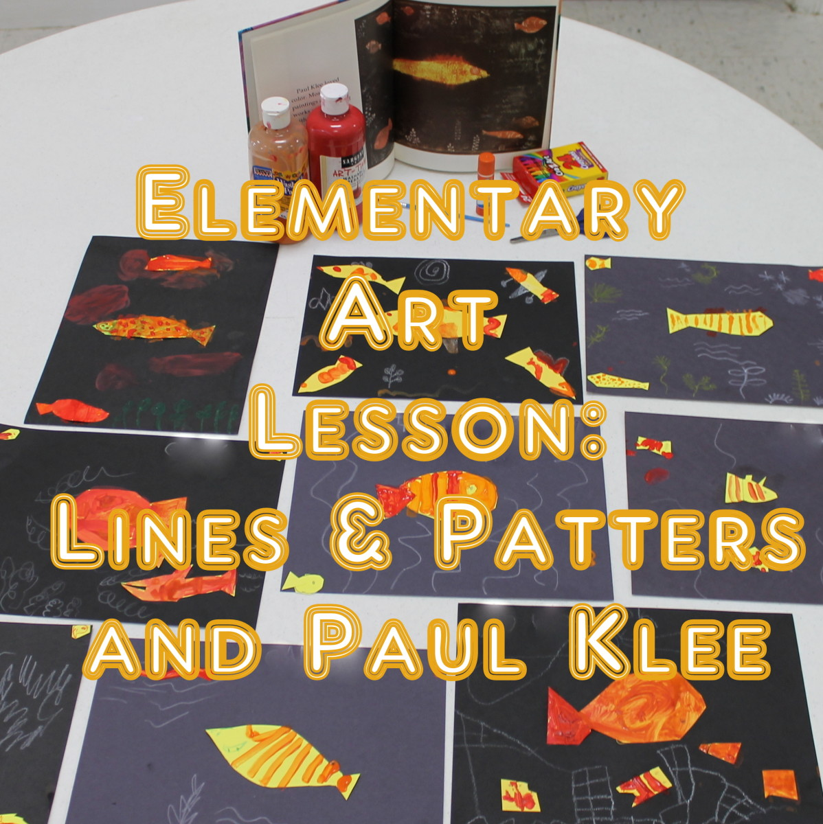How to Teach Lines and Patterns with Paul Klee: An Art Lesson for Early Elementary