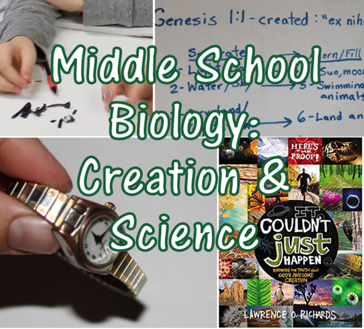 Creation and Science Lesson for Middle School Biology