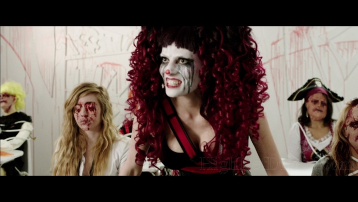 Dollface (Candice De Visser) loved torturing her classmates in school and now she gets to do it again in The Funhouse Massacre.