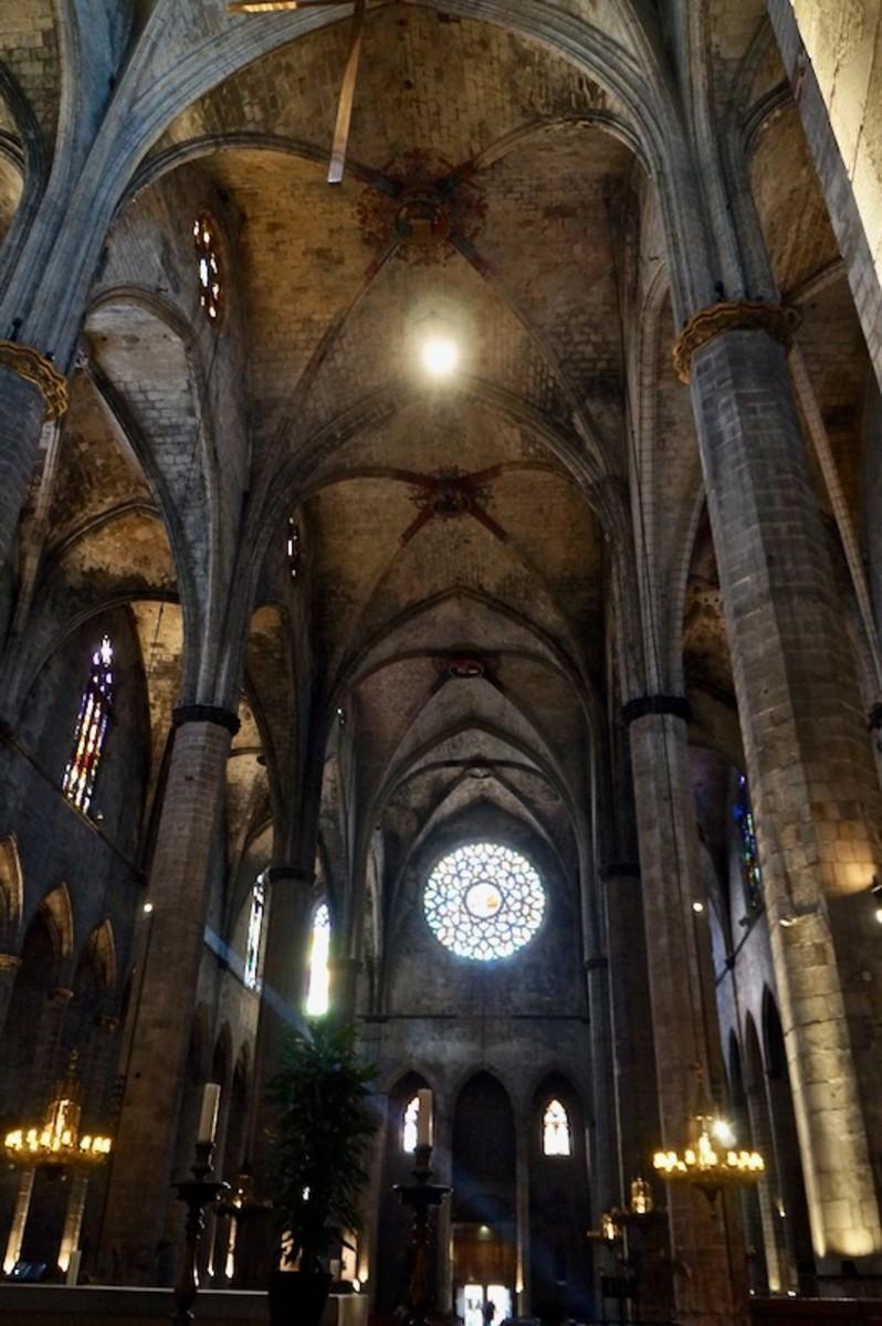 Interior of Santa Maria del Mar
