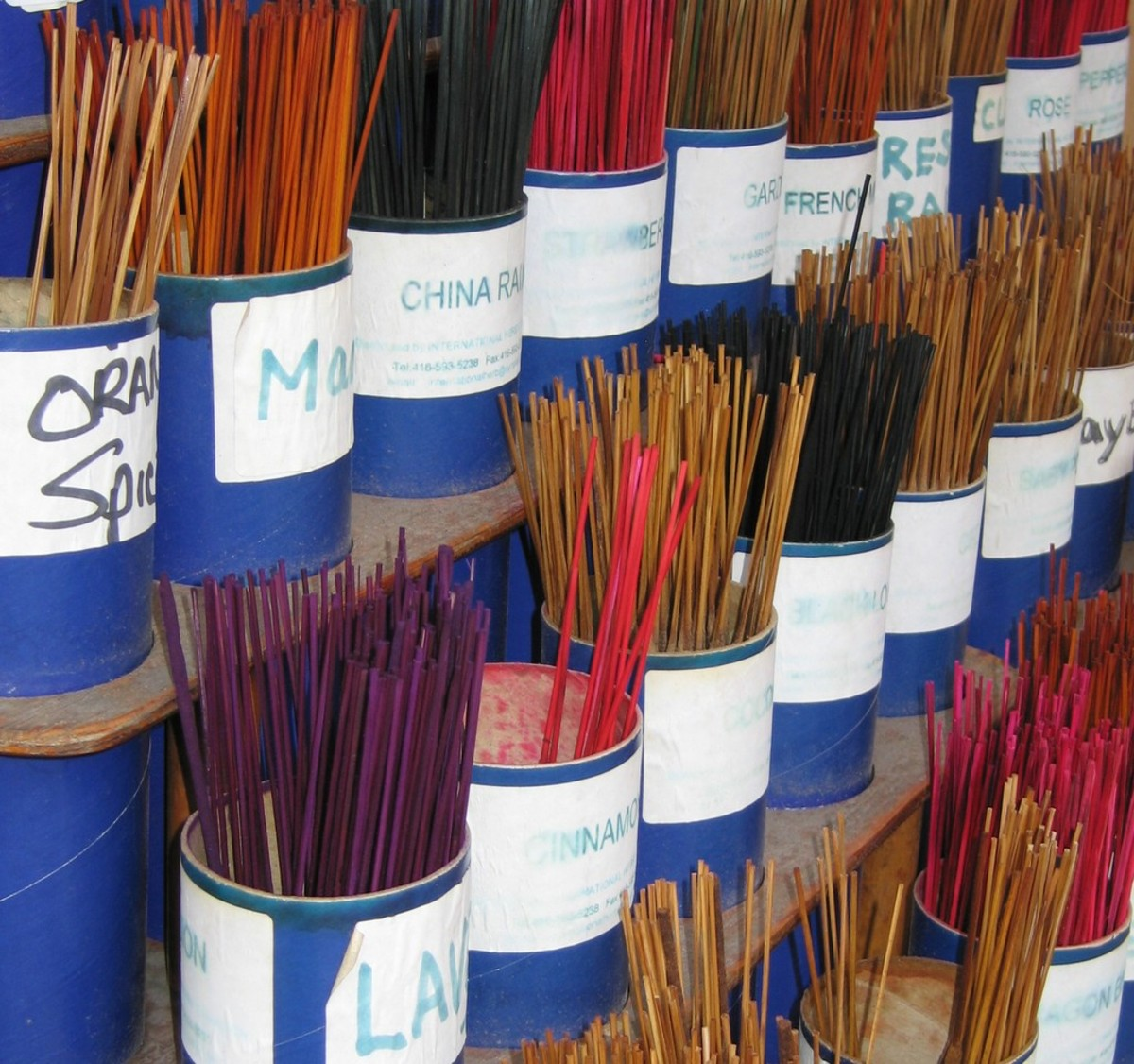 Incense sticks are the most commonly sold incense.