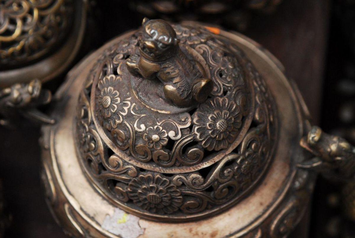 Antique bronze incense burner.