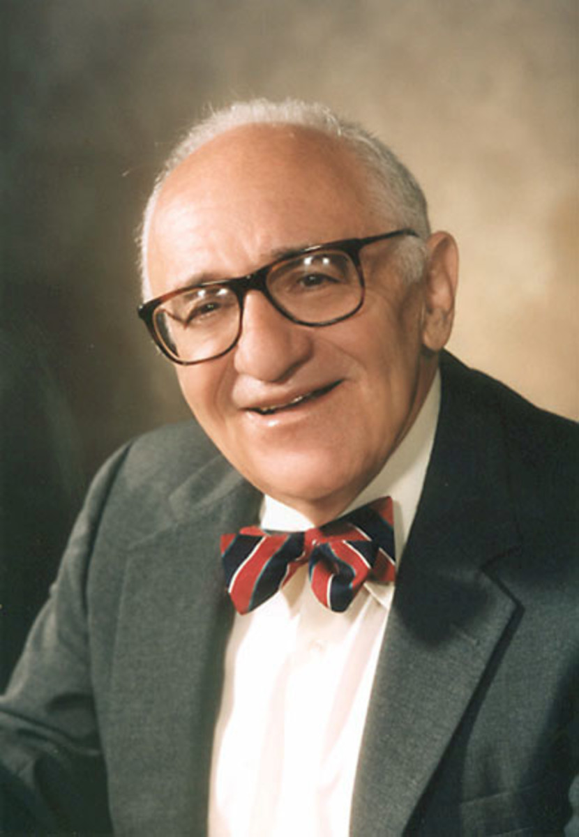 """An important thinker of 20th century libertarianism was Murray Rothbard (1926-1995) who espoused a variation of libertarian thought called """"anarcho-capitalism,"""" a view that espouses, absent a centralized state, markets will self-regulate."""