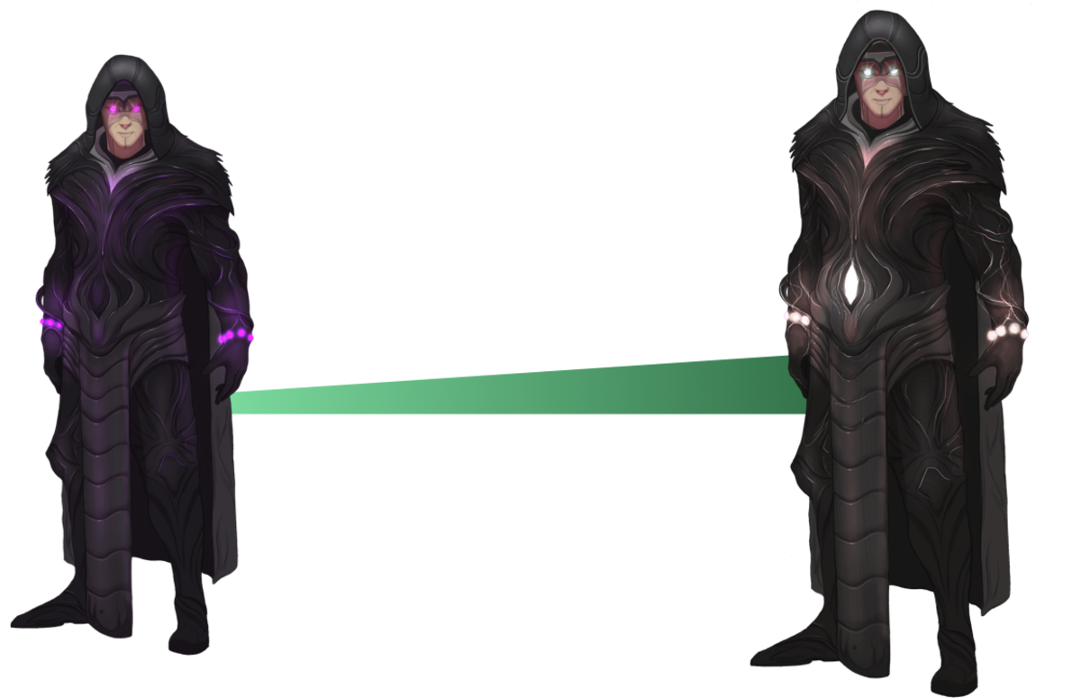 Concept art of Iratus's normal skin (left) and exclusive Early Access skin (right)