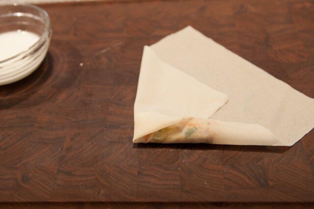 Fold in each side as shown