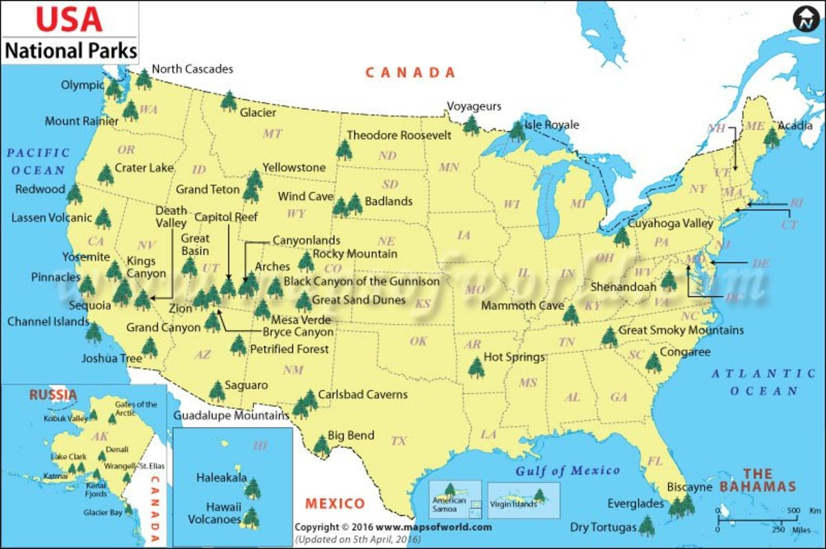 picture regarding Printable List of National Parks identify Getaway within US Countrywide Parks HubPages