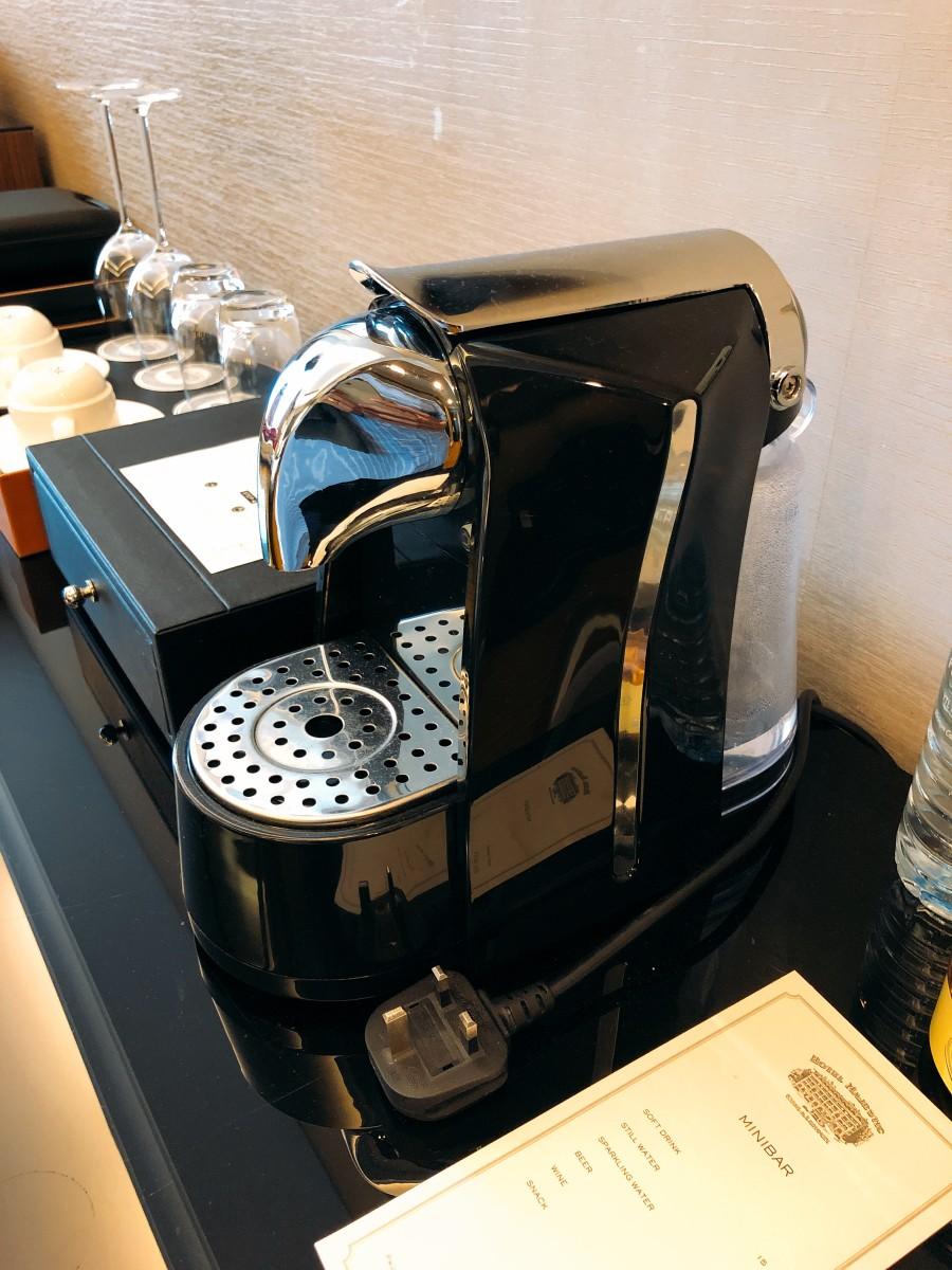 The coffee machine always makes me happy.