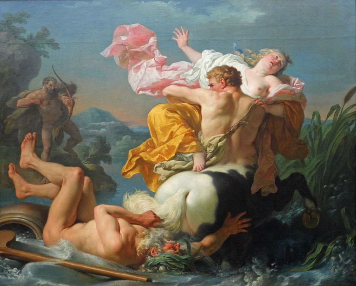 The Centaur Nessus moments before Heracles shot him.