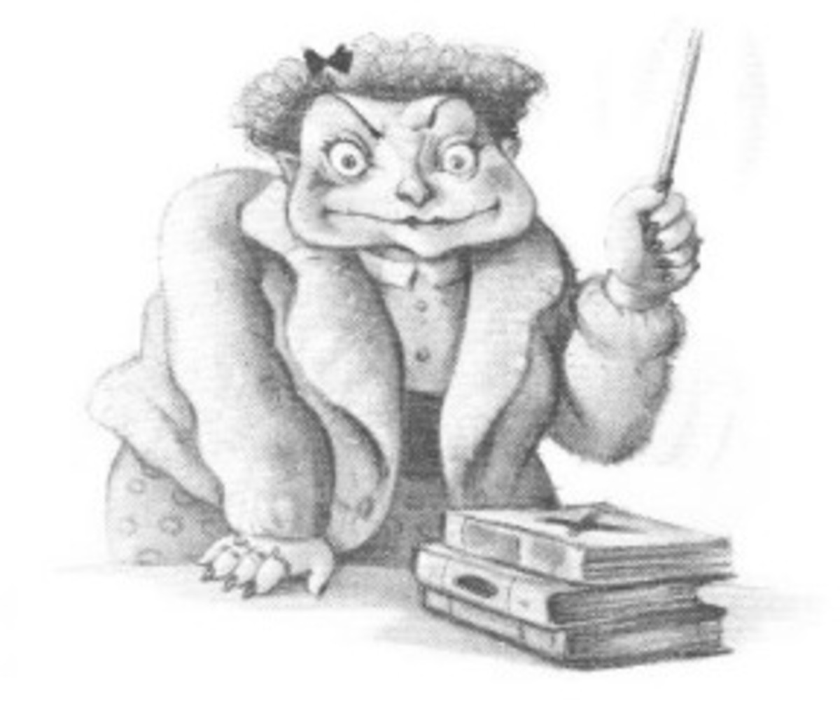 How Umbridge was portrayed in the book (the movie was too kind to her).