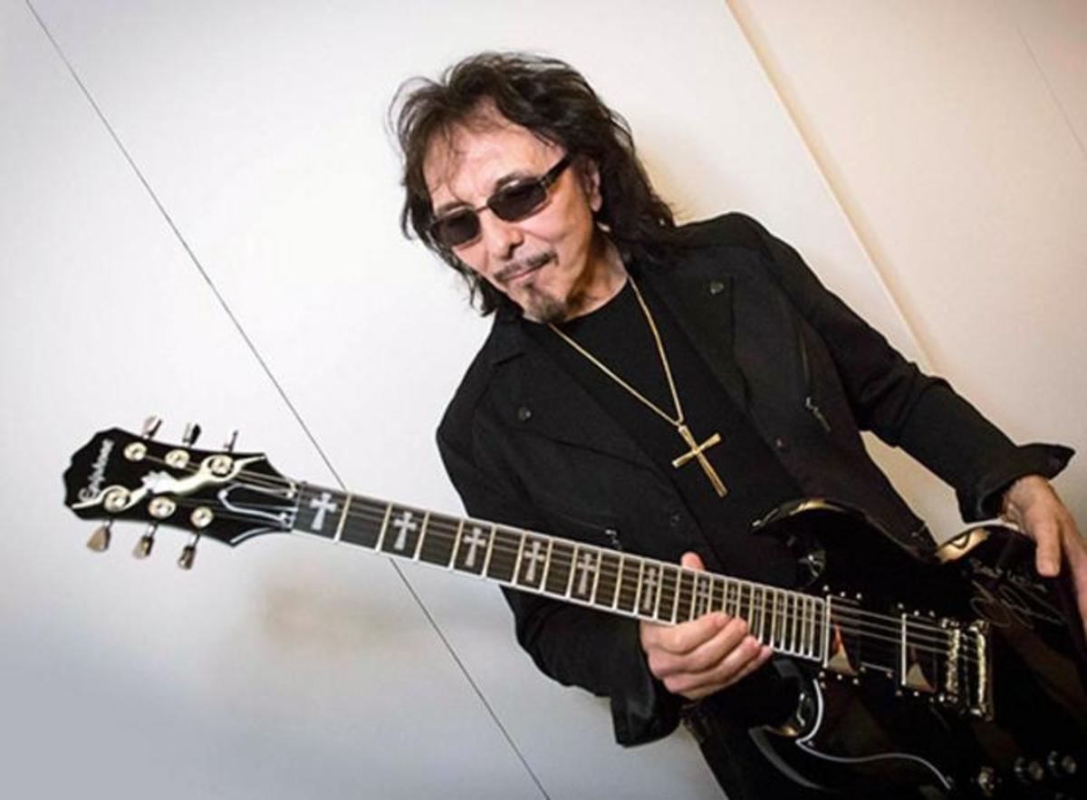Tony Iommi and the Epiphone Tony Iommi SG Custom.