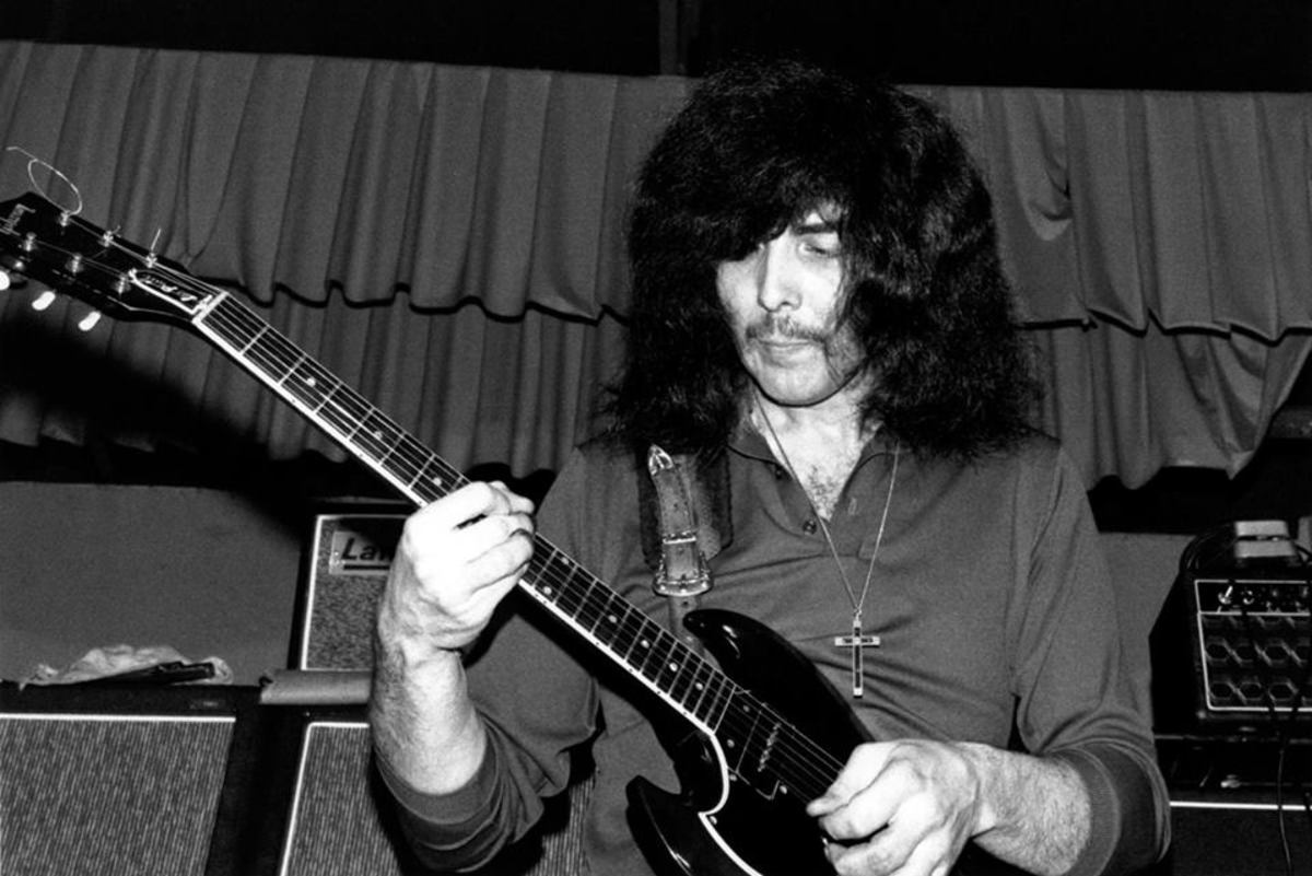 A much younger Iommi, master of the heavy metal riff.