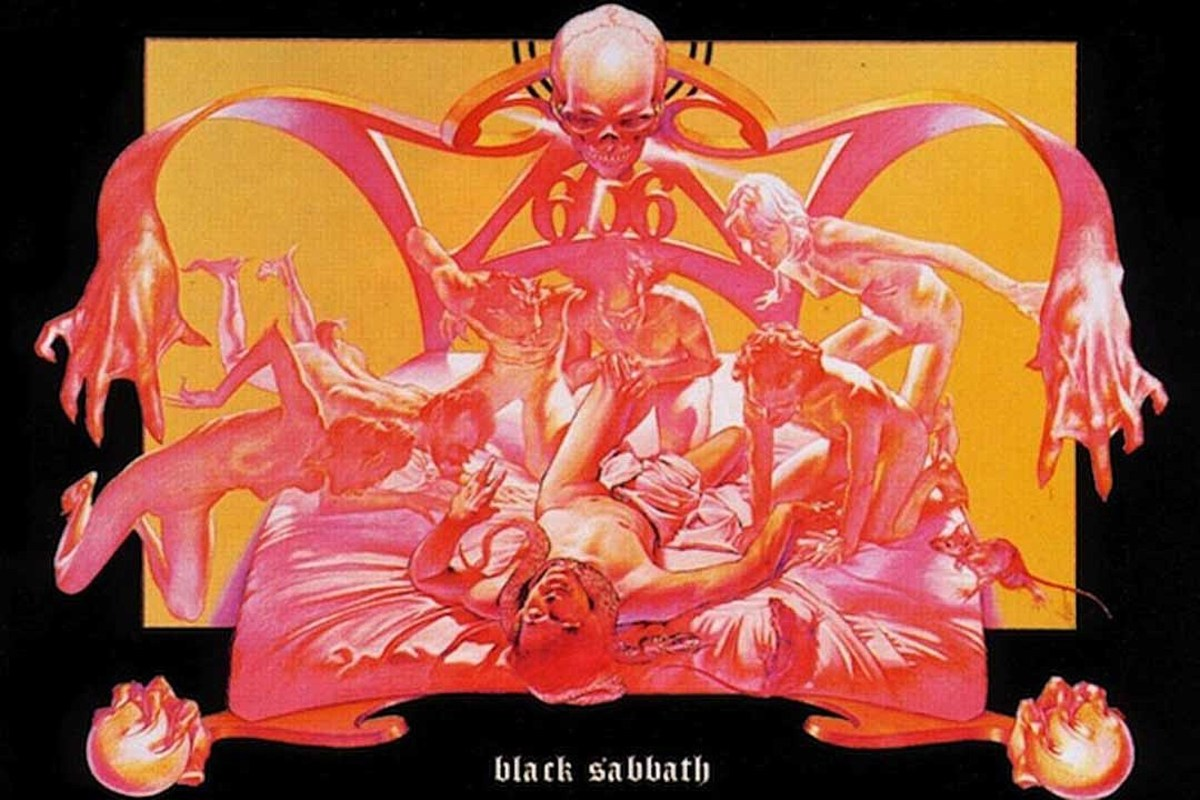 The spooky cover to the 1973 groundbreaking classic, Sabbath Bloody Sabbath.