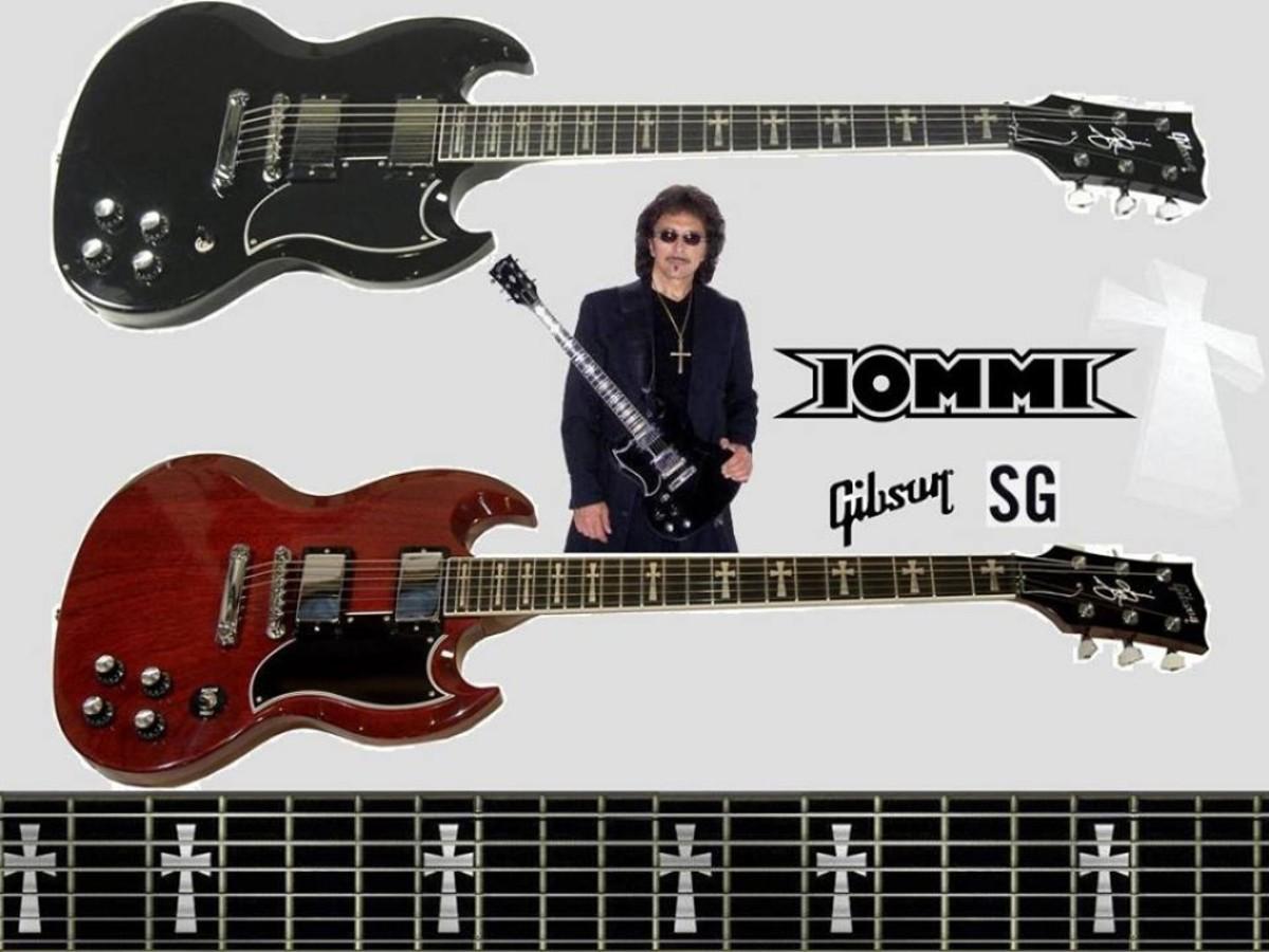 Gibson Tony Iommi SG Custom guitars.
