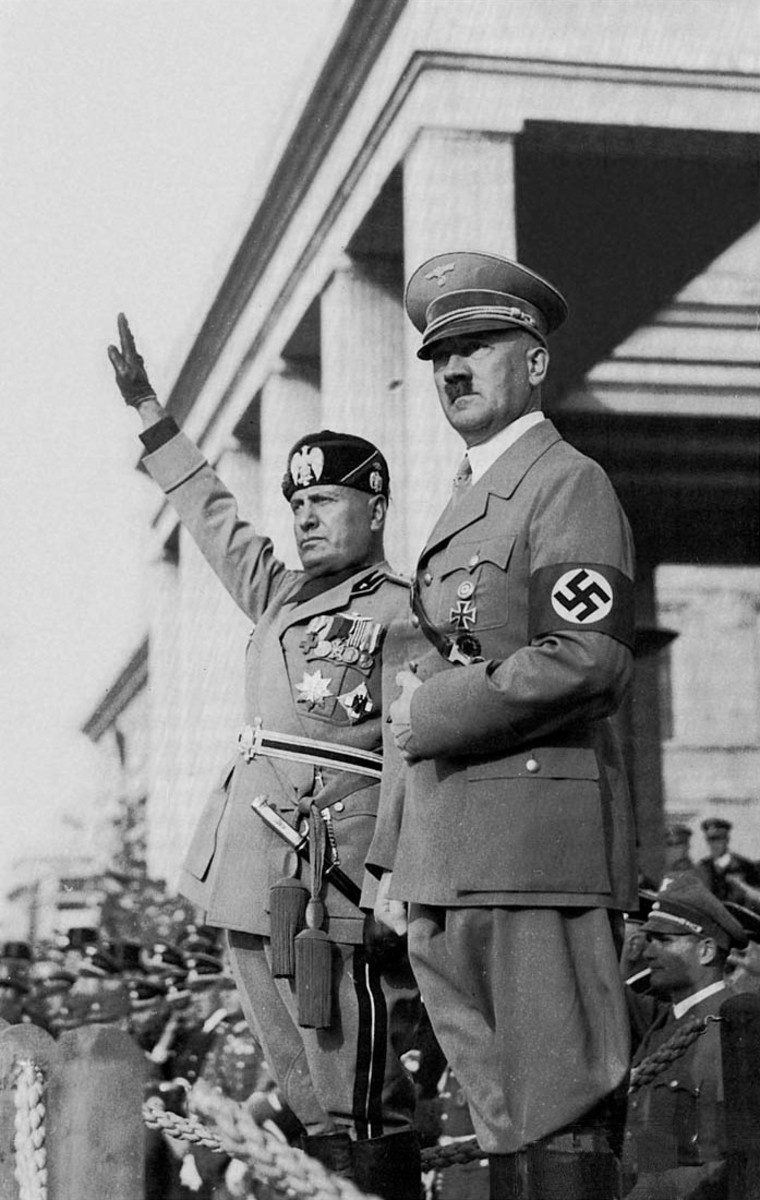 On October 25, 1936, an alliance was declared between Italy and Germany which came to be known as the Rome-Berlin Axis. Italy would become one of Nazi Germany's closest allies.