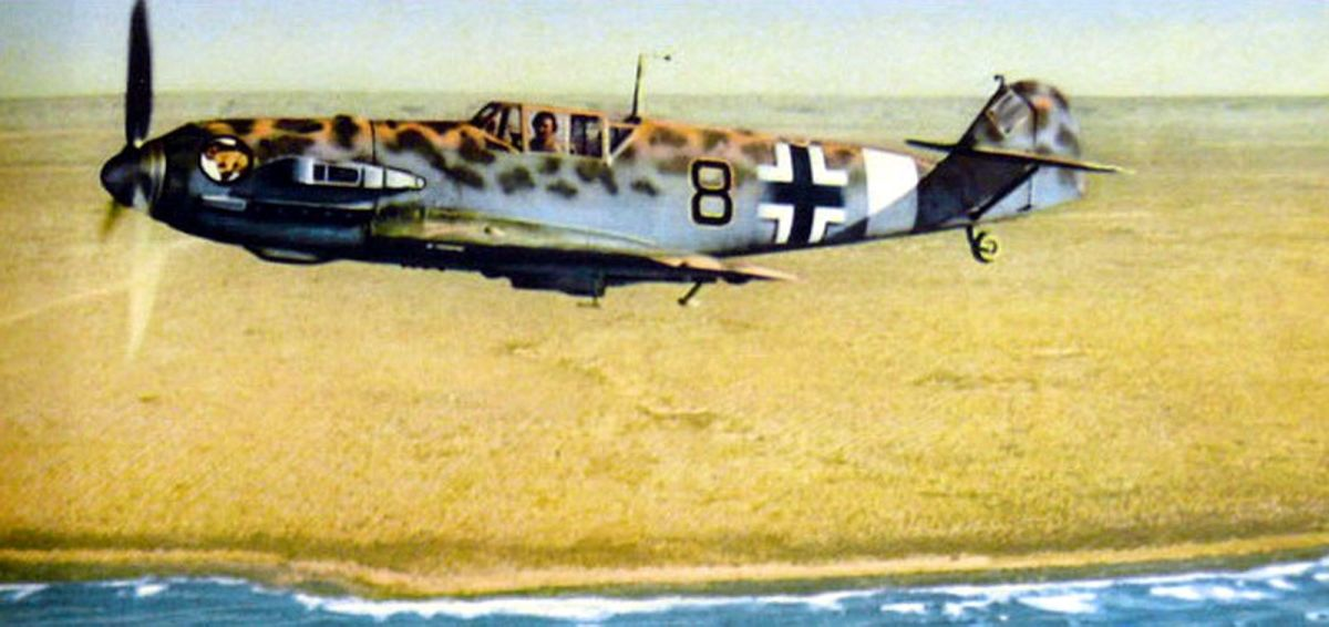 Me109 in Africa at the beginning the German Air Force had control of the skies above the battlefield.