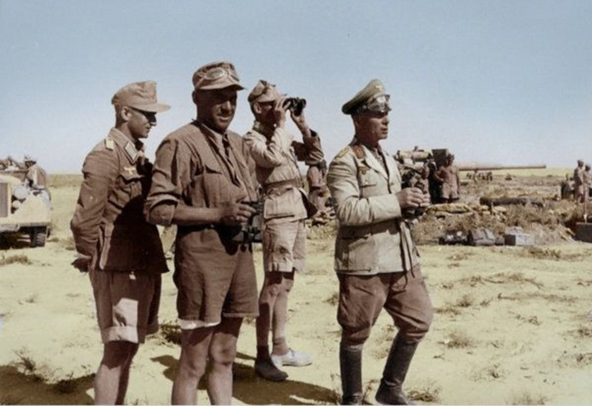 Rommel near the front in North Africa Spring 1942.