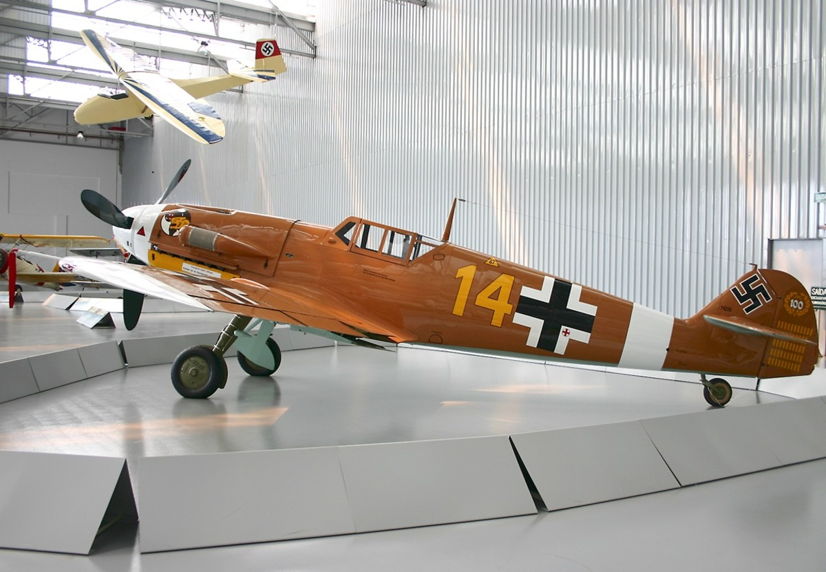 Bf 109 G-2 painted with markings of Marseille's aircraft on display at the Museum TAM in São Carlos, Brazil present day.