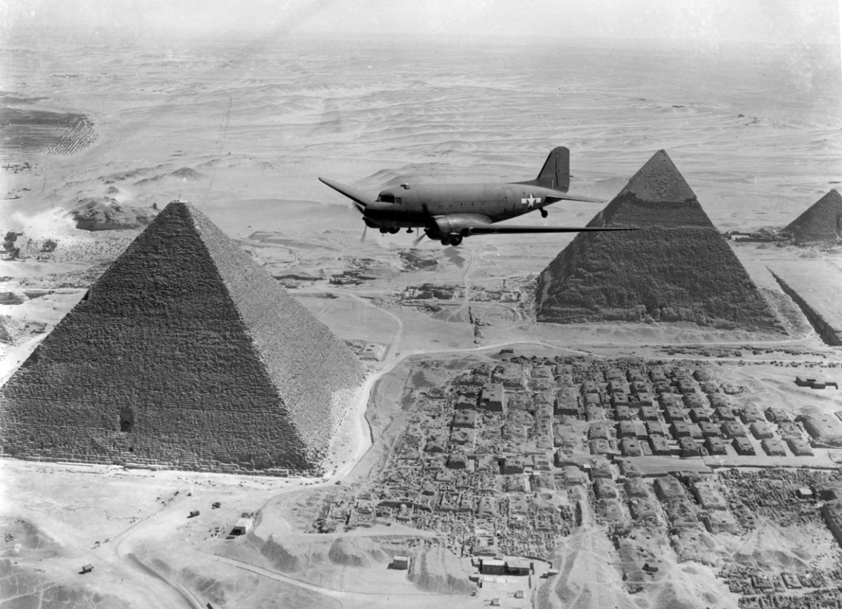 The ultimate prize the Pyramids of Egypt.