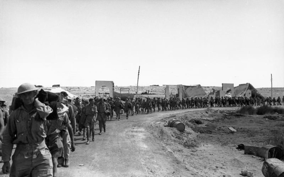 Over 30,000 British troops would surrender to Rommel's Africa Korps when Tobruk fell to the Germans.