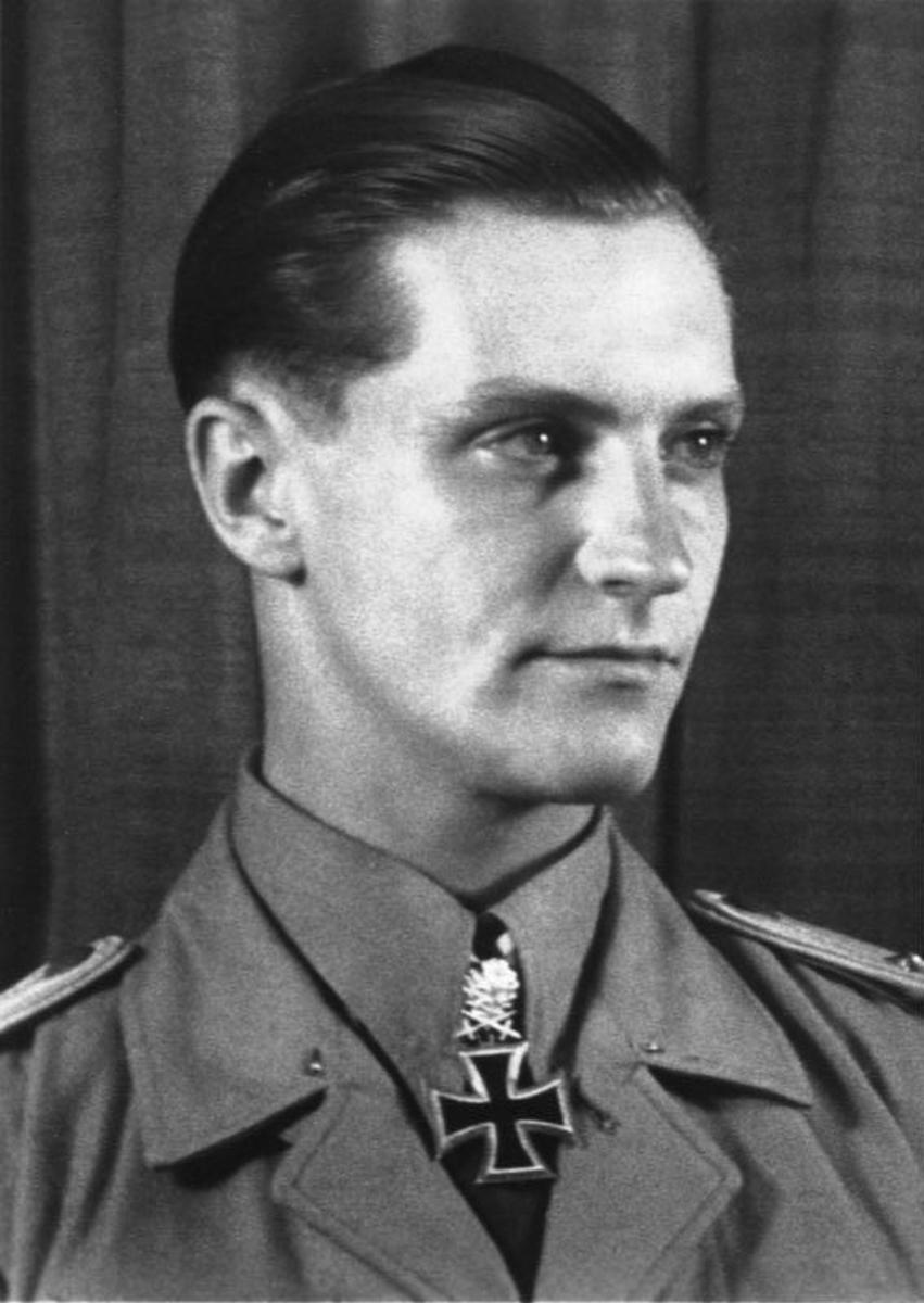 Perhaps the Greatest Ace of the Second World War Hans-Joachim Marseille who would claim over 158 kills before his death in the desert in 1942. He would shoot down 17 British planes in one day the best day of any air ace in the Second World War.
