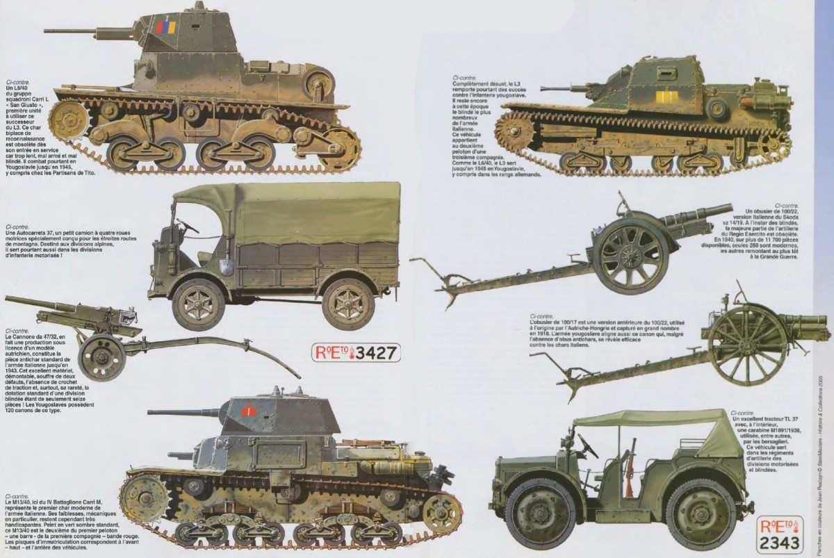 """Italian tanks were not match for British tanks. The unreliable Italian M 13/40 was called the """"mobile coffin"""" by Axis forces."""