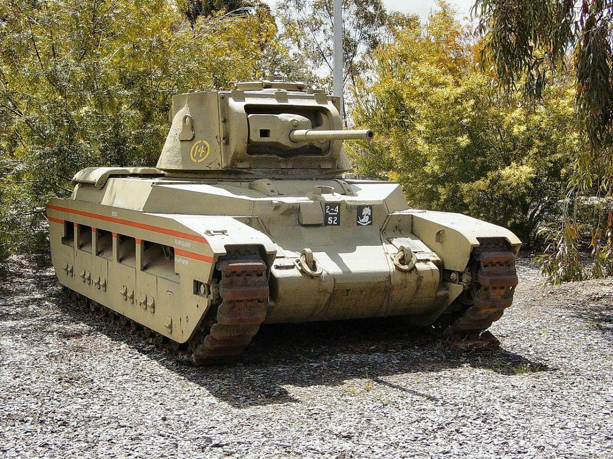 The British Matilda tank its 40mm main gun devastated the thin skins of Italian tanks.