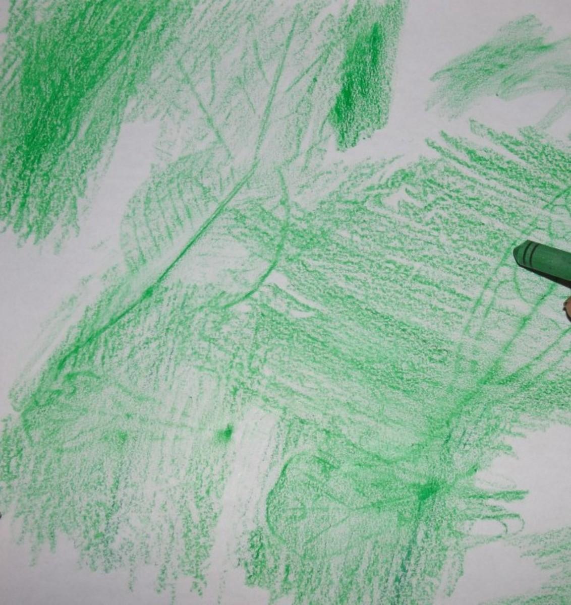 Creating leaf rubbings