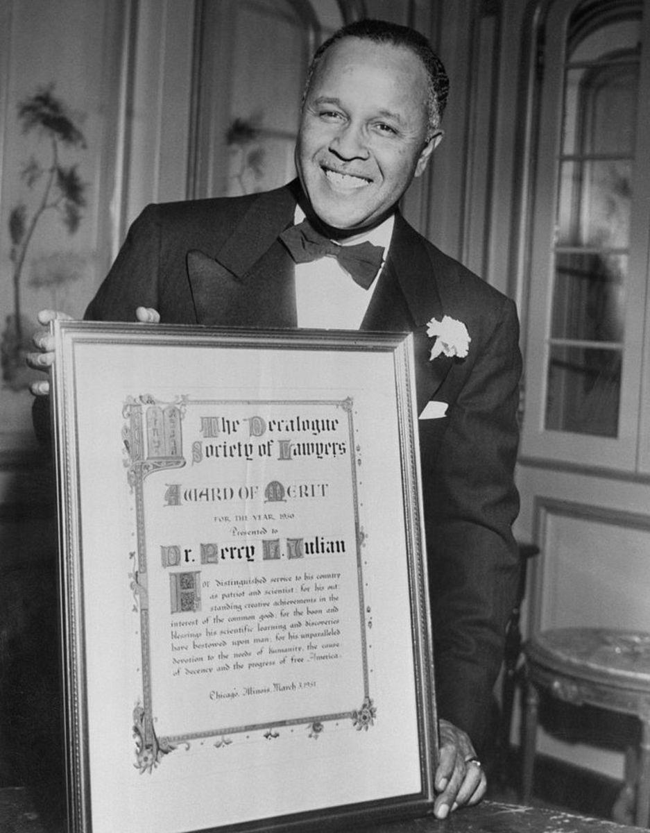 Percy Julian with Award