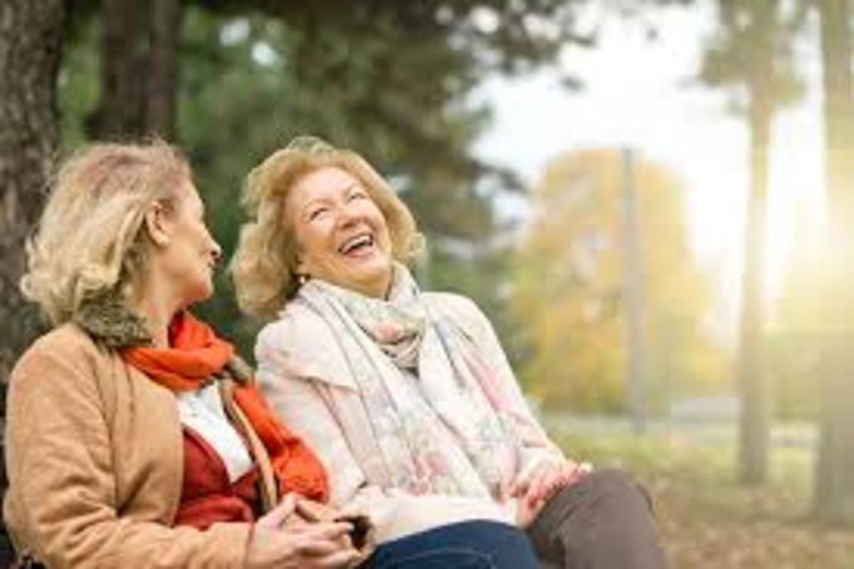 "See these old dames?  They're  laughing at you not knowing Pink Floyd (got this by typing into the Goog: ""laughing at someone crying"" kinda dark"
