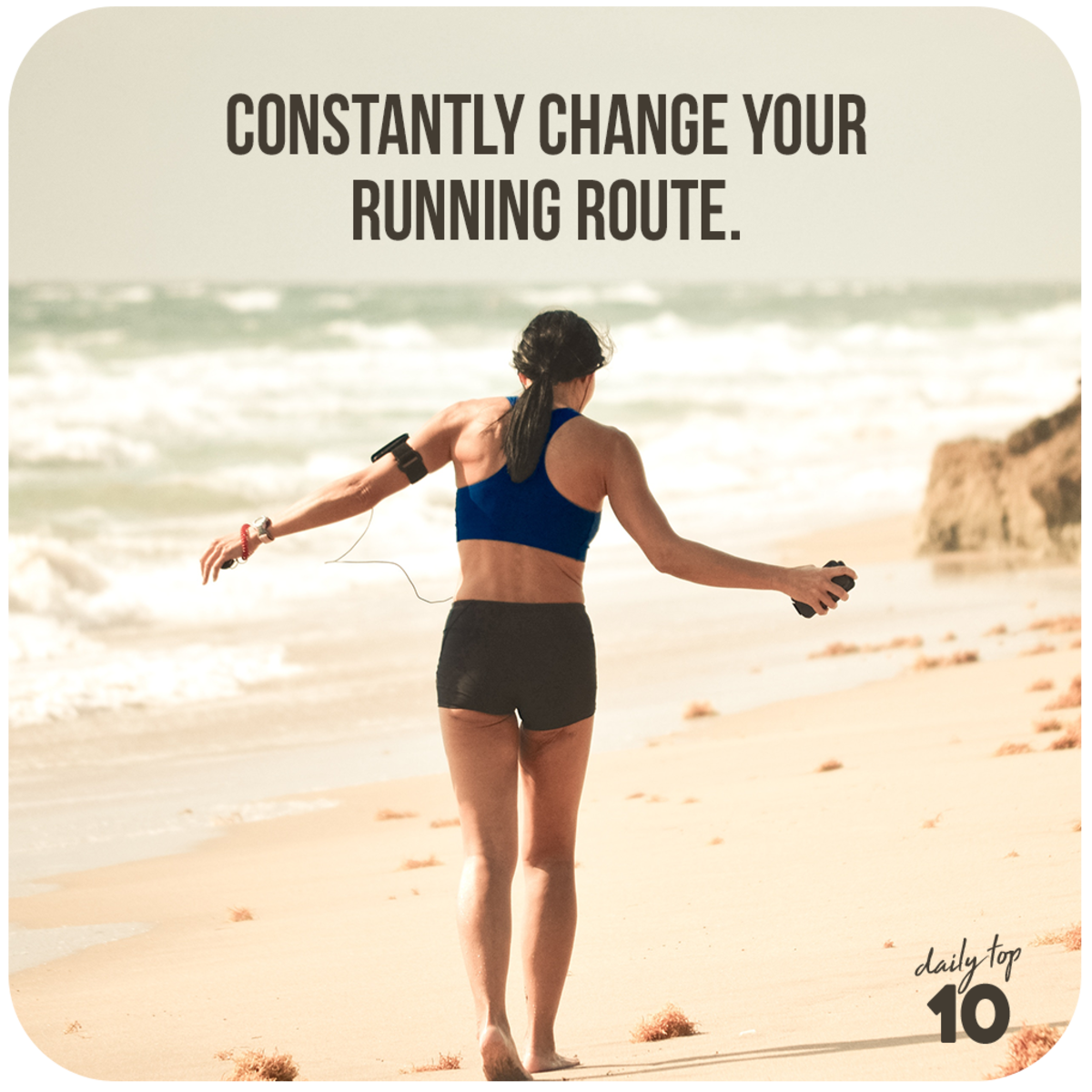 Constantly change your running route.