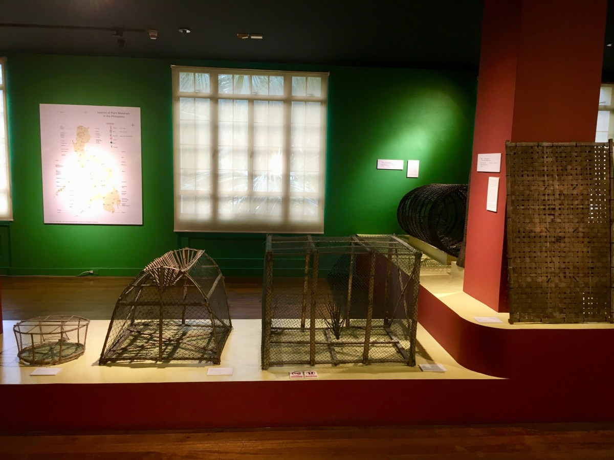 Pieces displayed at the Entwined Spheres: Mats and Baskets as Containers, Costumes and Conveyors