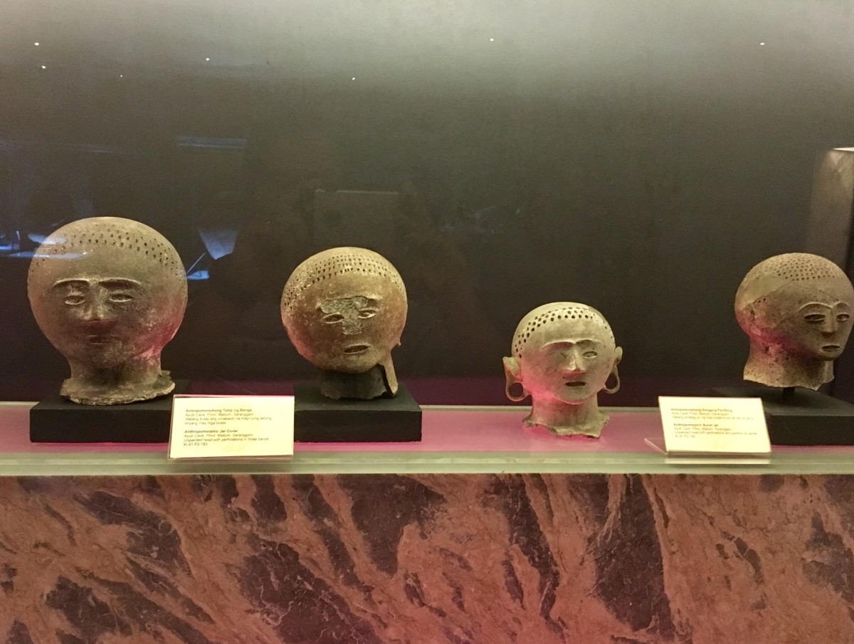 "Pieces displayed at the ""Kaban ng Lahi"" (Archaeological Treasures)"