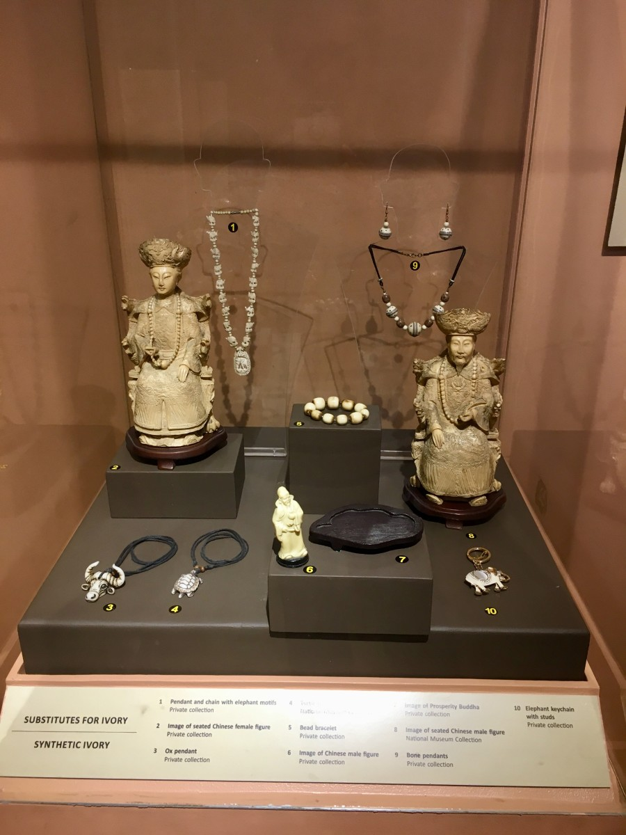 An item displayed at Garing: The Philippine at the Crossroads of Ivory Trade