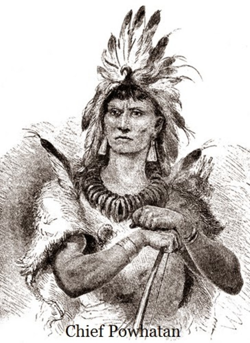 Chief Powhatan, the one who confessed to murdering the colonist.