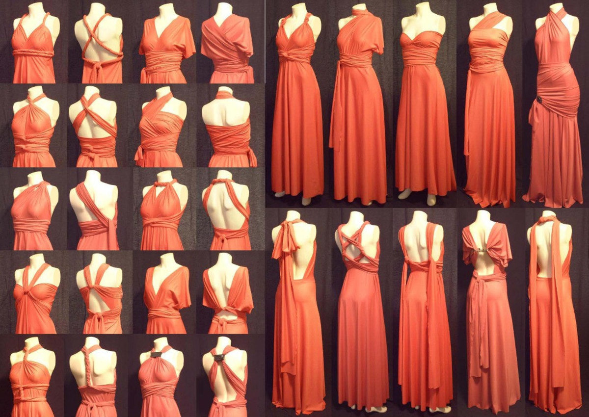 Bridesmaid Dresses for Different Bridesmaid Body Types: The Infinity Dress