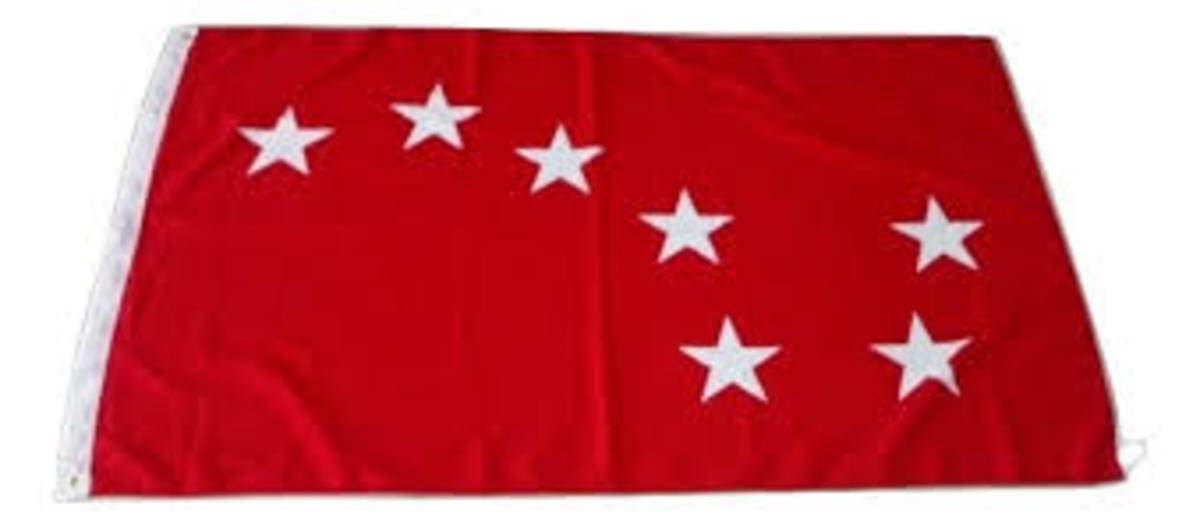 Starry Plough flag with red background