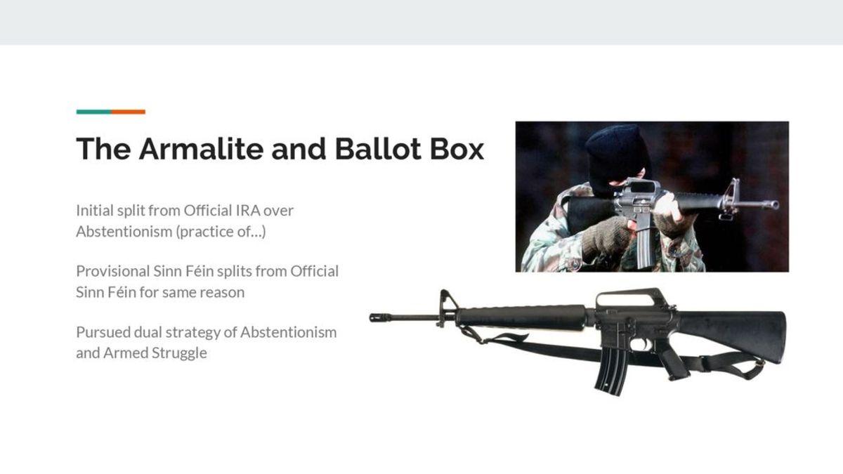 Armalite and ballot box strategy.
