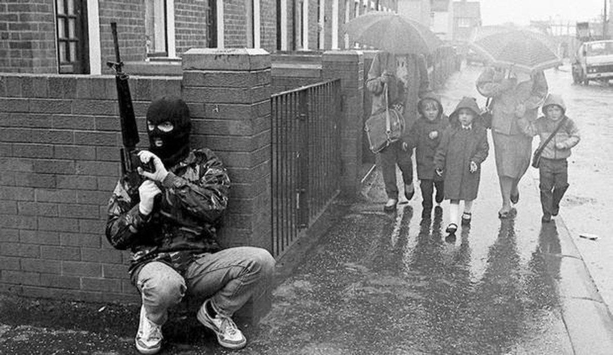 IRA volunteer with AR15 in West Belfast