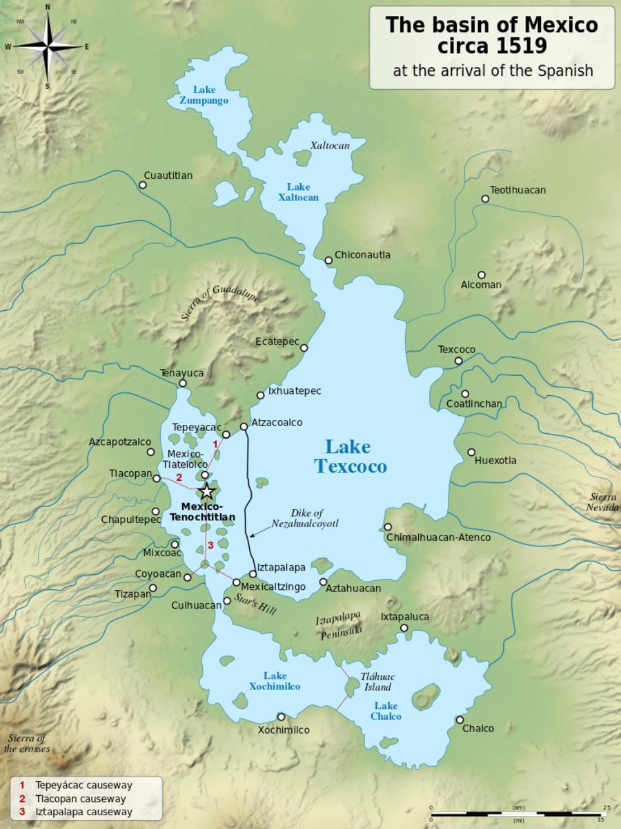 Former Lake Texcoco, 1519
