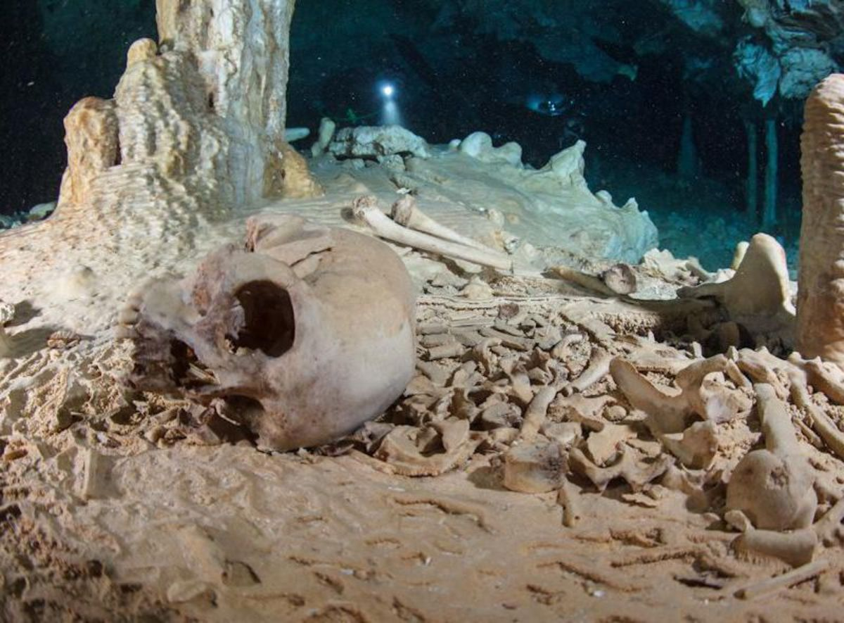 Naia's skeleton was found deep in an underwater cave