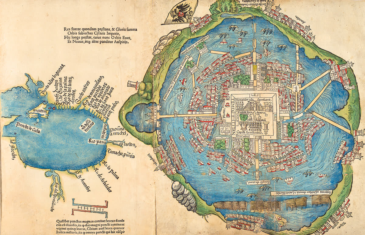 Tenochtitlan Map, 1524