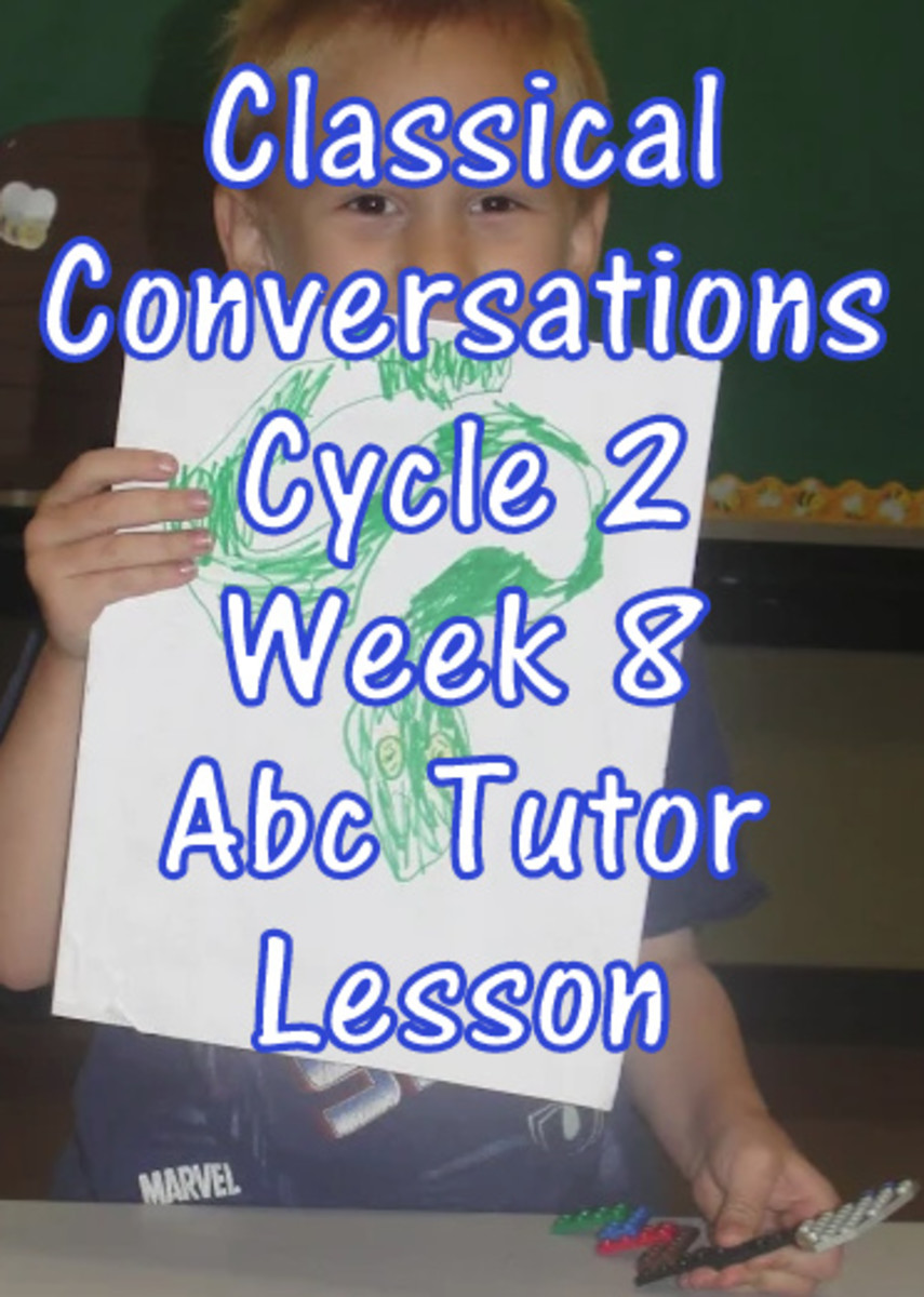 Classical Conversations Cycle 2 Week 8 Abc Tutor Lesson Plan