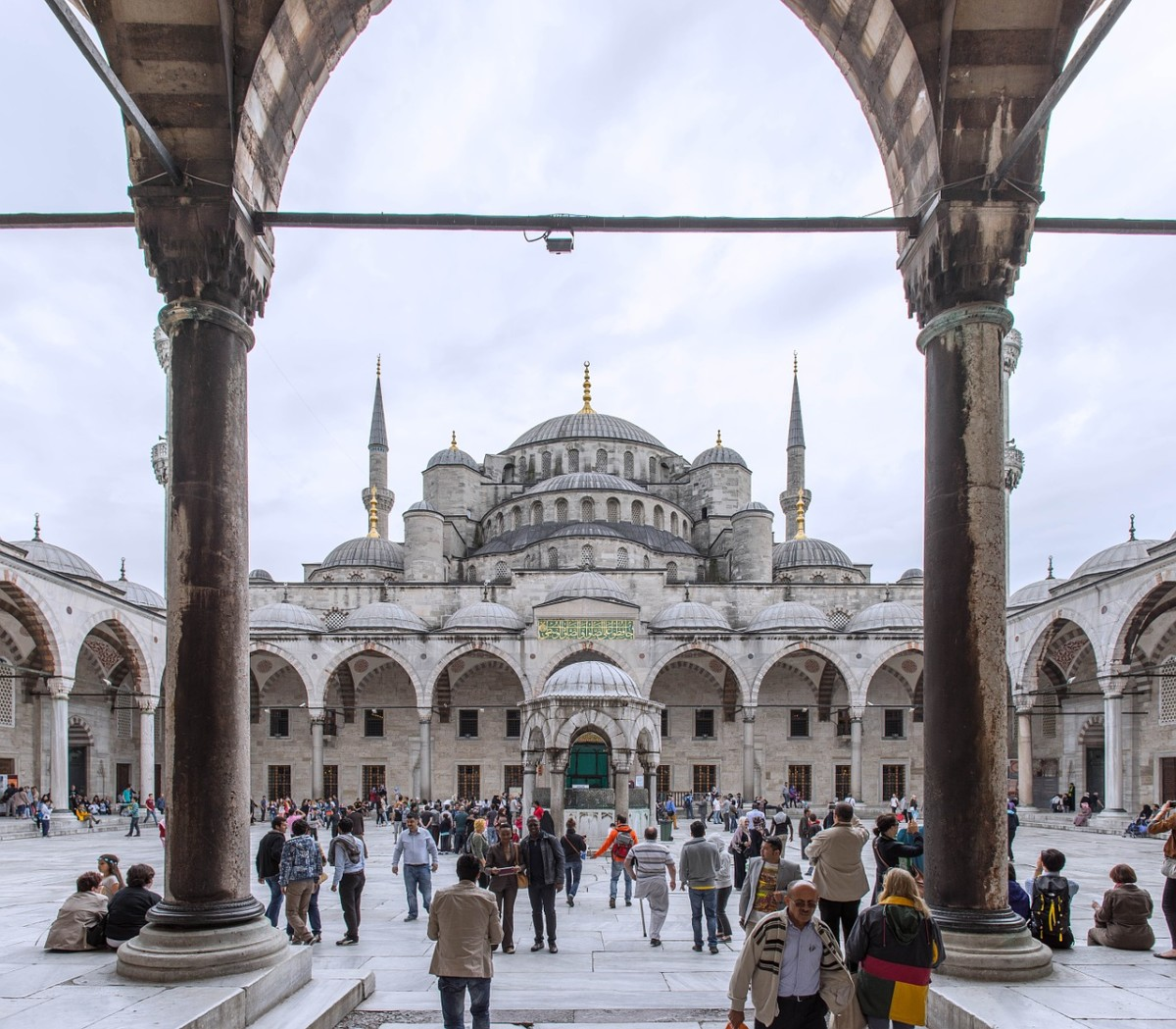 One of the many buildings with traditional architecture in Turkey
