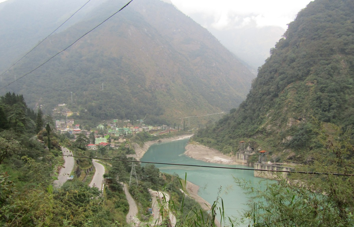 On the way to Gangtok from Bagdogra Airport by road