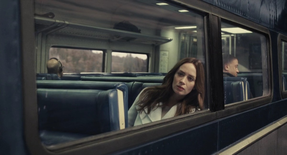 That is definitely a girl...on a train.