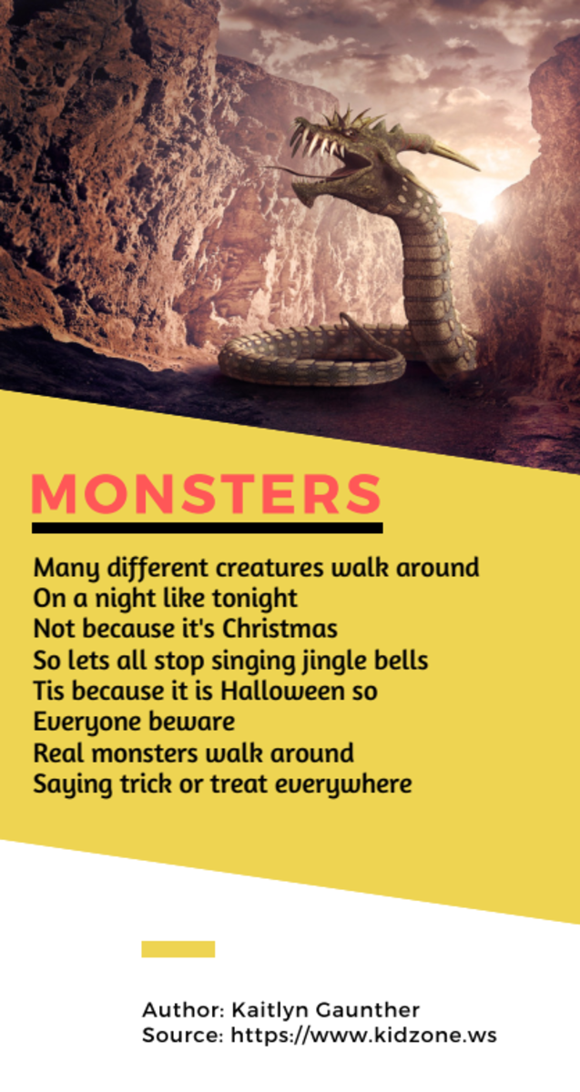 Acrostic Poem about Monsters